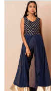 Funky Blue Slit Suit With Trousers